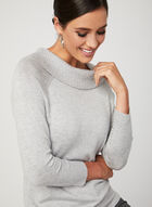 Marilyn Neck Knit Sweater, Silver, hi-res