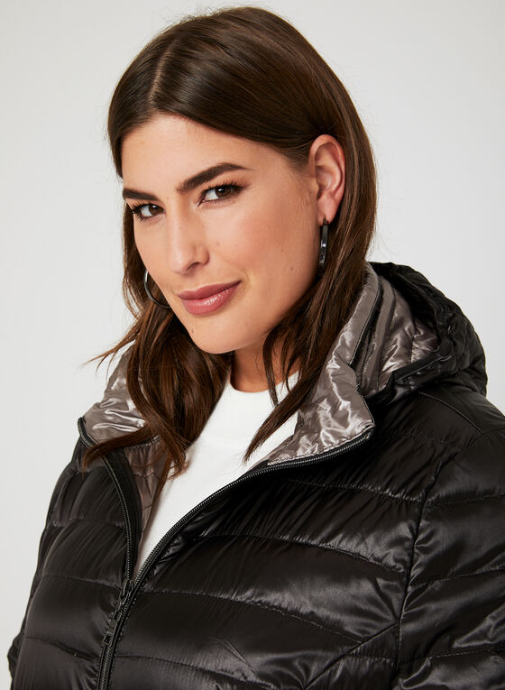 Nuage - Packable Down Coat , Black, hi-res