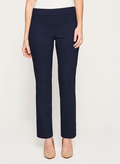 Pull-On Straight Leg Pants, Blue, hi-res