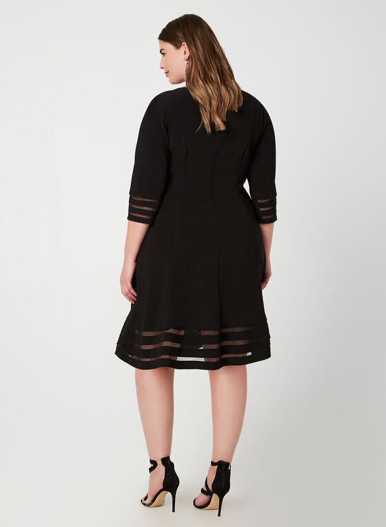 Jessica Howard - Mesh Detail Dress, Black