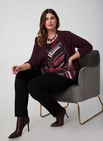 Sleeveless Crepe Blouse, Black,  sleeveless, blouse, crepe, fall 2019, winter 2019
