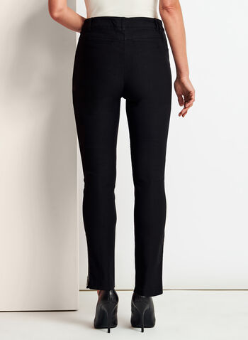 Modern Fit Slim Leg ⅞ Pants, Black, hi-res
