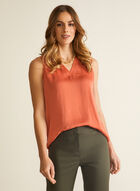 Sleeveless V-Neck Blouse, Orange