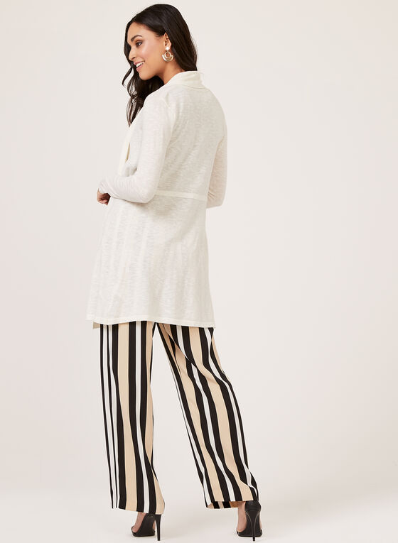 Linea Domani - Open Front Knit Duster , Off White