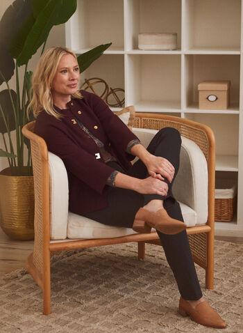 Signature Fit Straight Leg Pants, Grey,  signature, pants, straight, pockets, zipper, faux leather, fall winter 2020