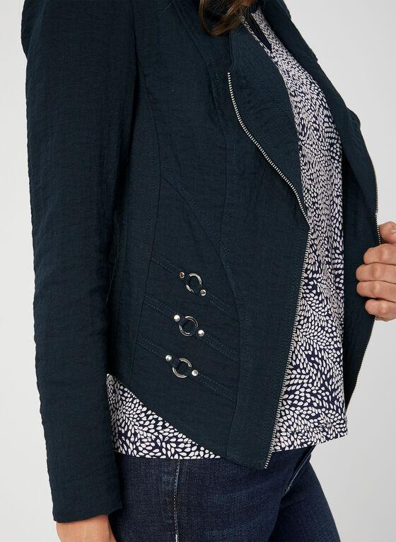 Vex - Blazer à détails métallisés, Bleu