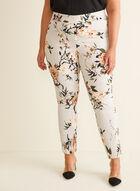 Floral Print City Fit Pants, Grey