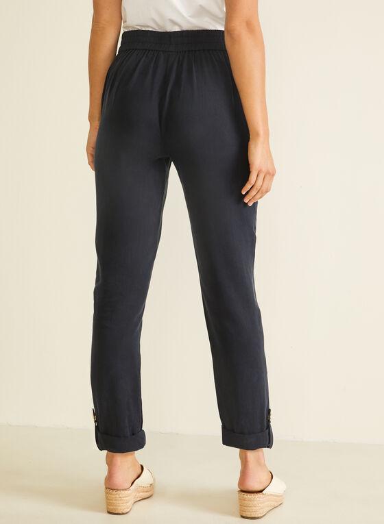 Pantalon coupe moderne en tencel, Bleu