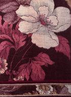 Floral Print Fringed Scarf, Red, hi-res