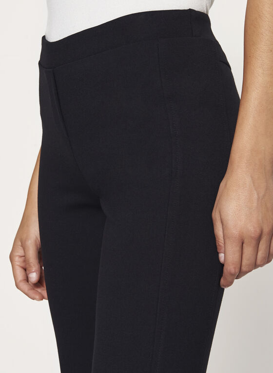Ponte Pull-On Straight Leg Pants , Black, hi-res