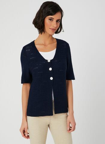 Alison Sheri - Knit Cardigan, Blue,