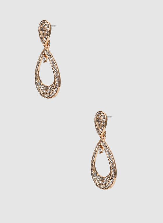 Boucles d'oreilles à pendants gouttes, Or