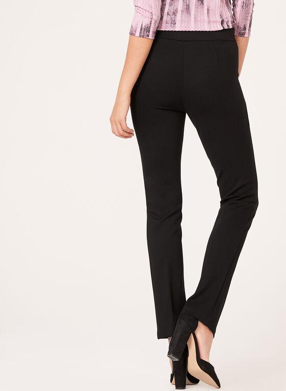 Pantalon pull-on coupe signature à jambe étroite, Noir, hi-res