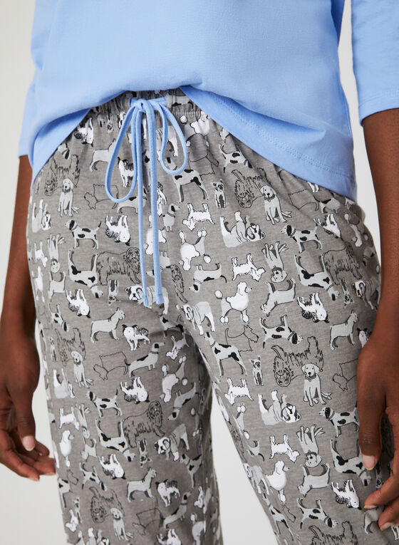 René Rofé – Animal Print Pyjama Set, Blue, hi-res