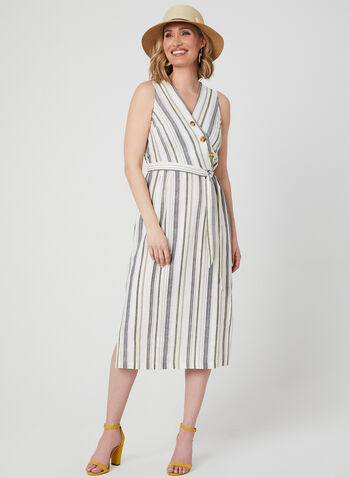 e09a5085ee9 Emma   Michele - Stripe Print Linen Dress