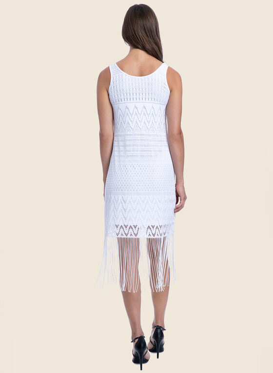 Profile by Gottex - Crochet & Fringe Swimsuit Cover-Up, White