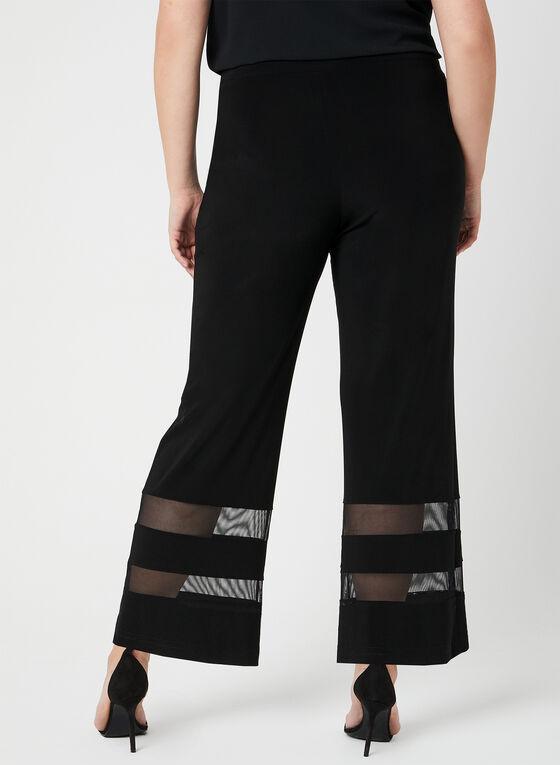Joseph Ribkoff - Pantalon à jambe large et maille filet, Noir, hi-res