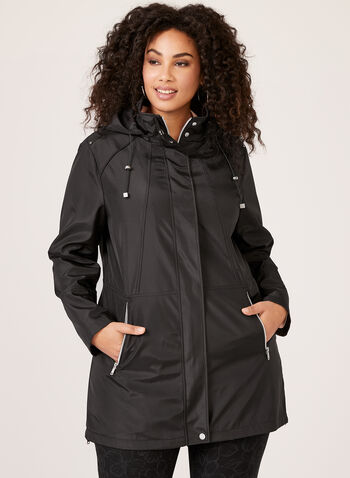 Novelti - Rain Coat With Removable Hood, Black, hi-res