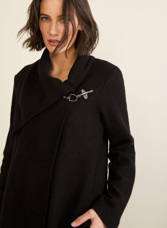 Carré Noir - Boiled Wool Coat, Black