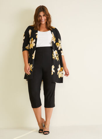Slim Leg Pull-On Capris, Black,  capris, pull-on, slim leg, spring summer 2020