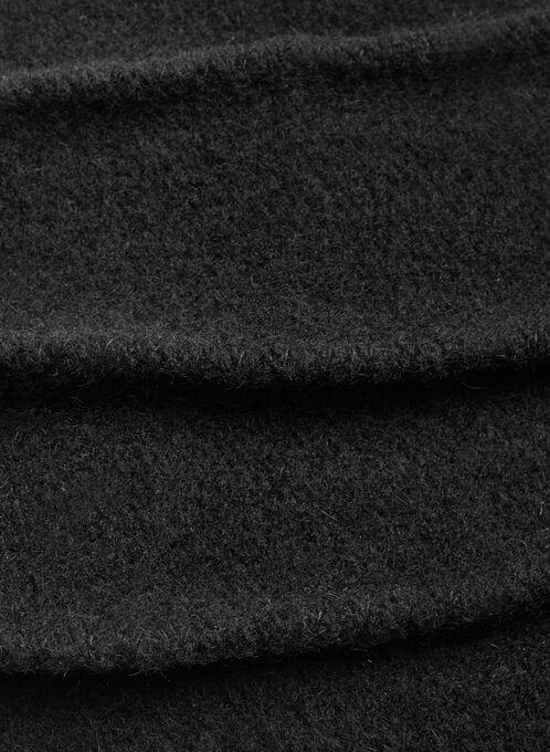 Tuque côtelée en laine , Noir, hi-res