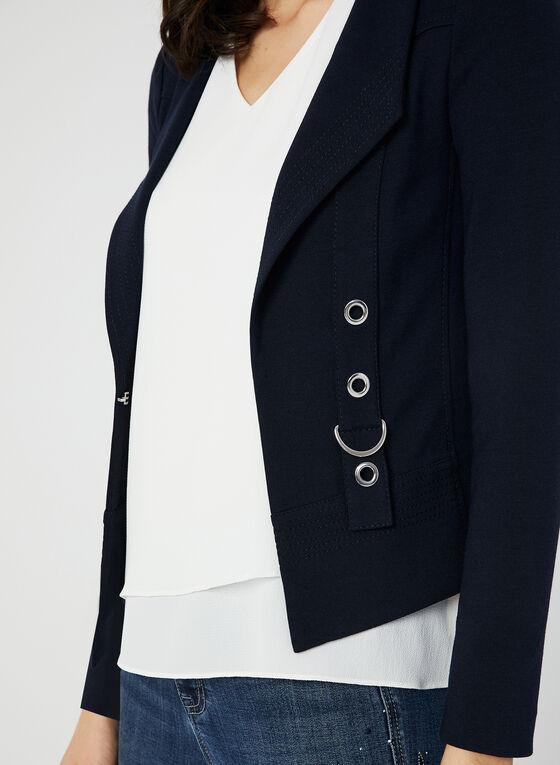 Grommet Detail Jacket, Blue