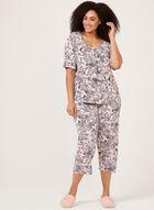 Hamilton - Ensemble pyjama à motif floral, Rose, hi-res