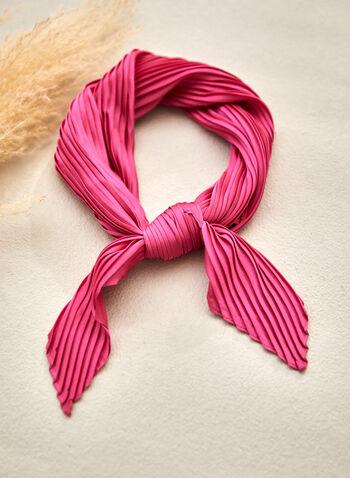 Foulard à effet plissé, Rose,  foulard, léger, effet plissé, plis, printemps été 2021
