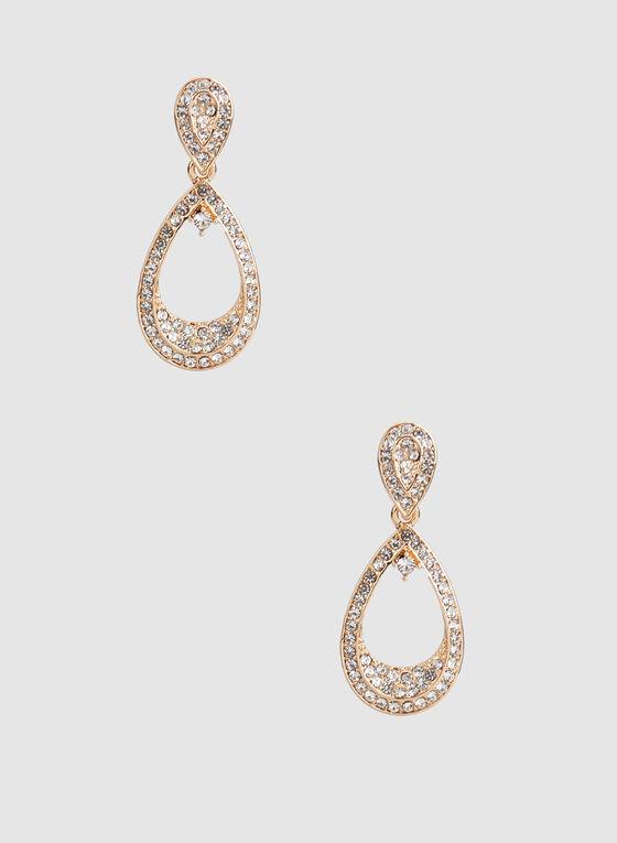 Boucles d'oreilles à pendants gouttes, Or, hi-res