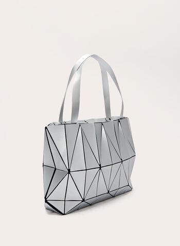 Geometric Print Tote Bag, Silver, hi-res