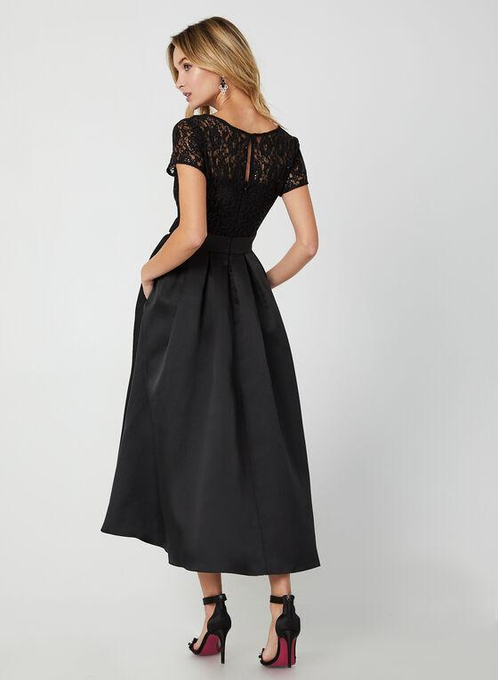 Sequin Lace Dress, Black