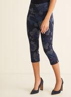 Floral Pull-On Capri Pants, Blue