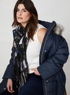Anne Klein - Long Faux Fur Down Coat, Blue