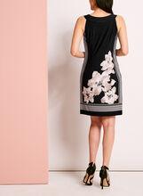 Robe col Cléopâtre à fleurs, Noir, hi-res