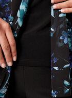 Haut fleuri en mousseline fendu à l'avant, Bleu, hi-res