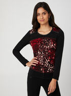 Vex - Leopard Print Top, Red