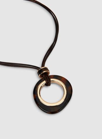 Collier à cordes multiples et anneau, Brun, hi-res,  cordon, multi rangs, automne hiver 2019