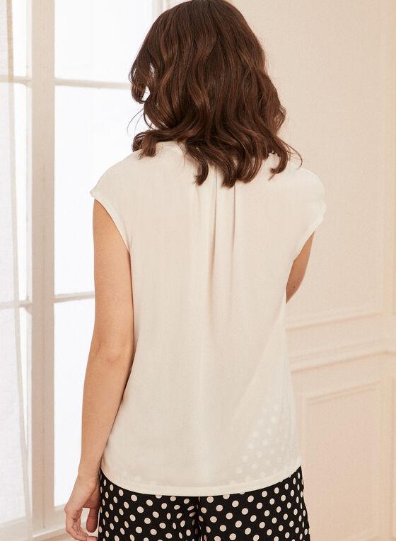 Monochrome V-Neck Top, Off White