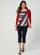 Stripe Print Top, Blue, hi-res
