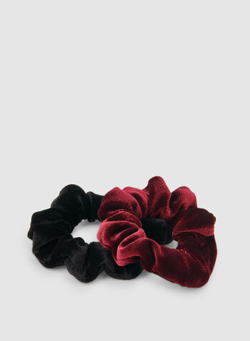Velvet Scrunchy Set, Red,  velvet, scrunchy, elastics, holiday, fall 2019, winter 2019