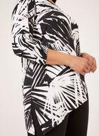 Tunique asymétrique à motif contrastant, Noir, hi-res
