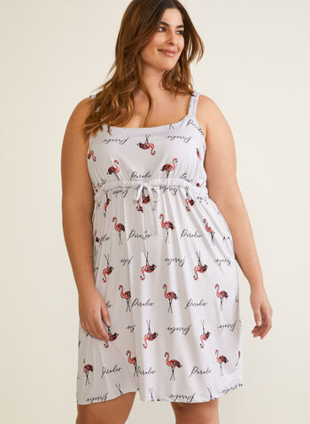 Empire Waist Nightgown , Grey,  fall winter 2020, nightgown, empire waist, pyjama