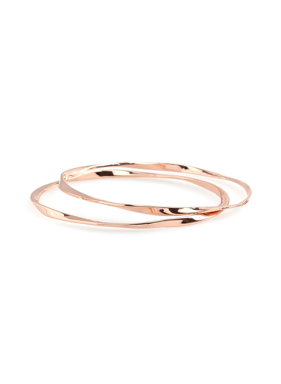 Metallic Bangle Set , Pink, hi-res