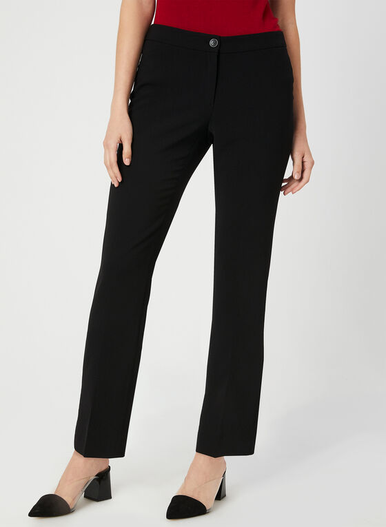 Modern Fit Slim Leg Pants, Black