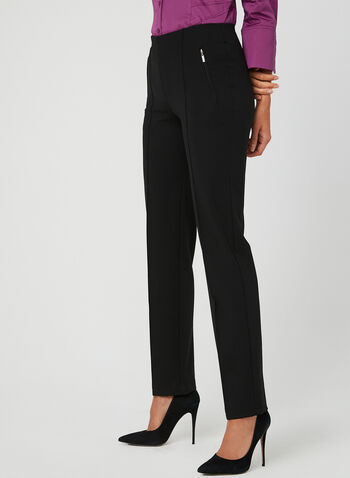 Mode De Vie - Pantalon pull-on coupe signature, Noir, hi-res