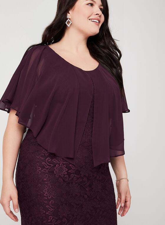 Lace Poncho Dress, Purple