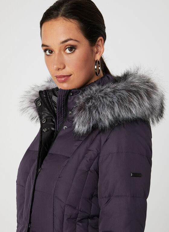 Novelti - Hooded Down Coat, Purple, hi-res