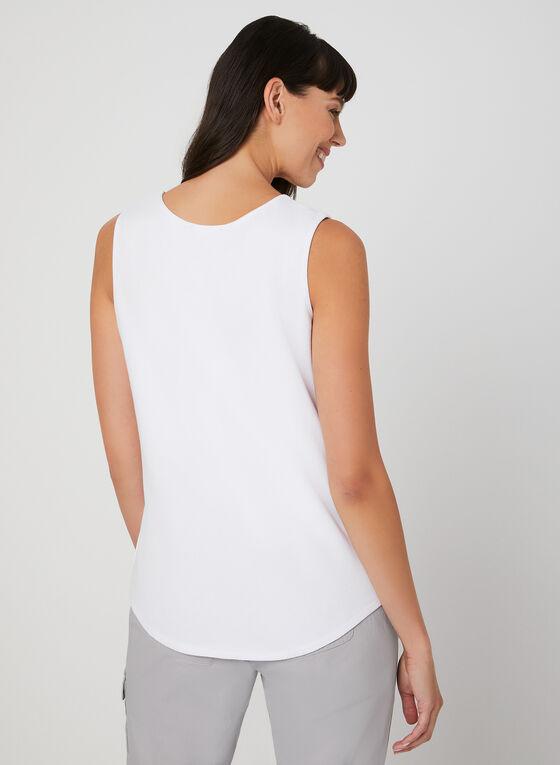 Textured Camisole, White, hi-res