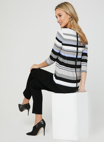 Stripe Print Jersey Top, Blue, hi-res,