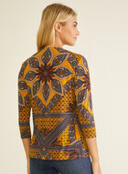 Paisley Print Open Front Top, Yellow